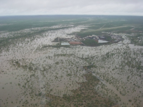 Existing Xstrata minesite during the 2003 flood